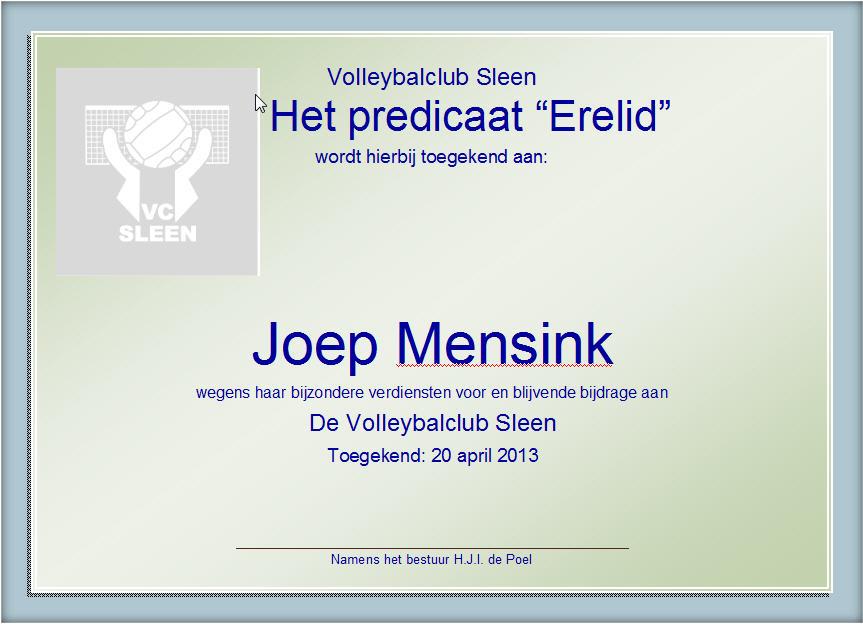 Joep Erelid!