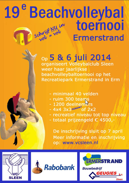 19e Beachvolleybaltoernooi VC Sleen