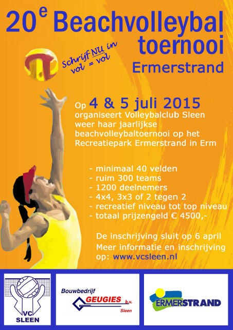 20e Beachvolleybaltoernooi VC Sleen
