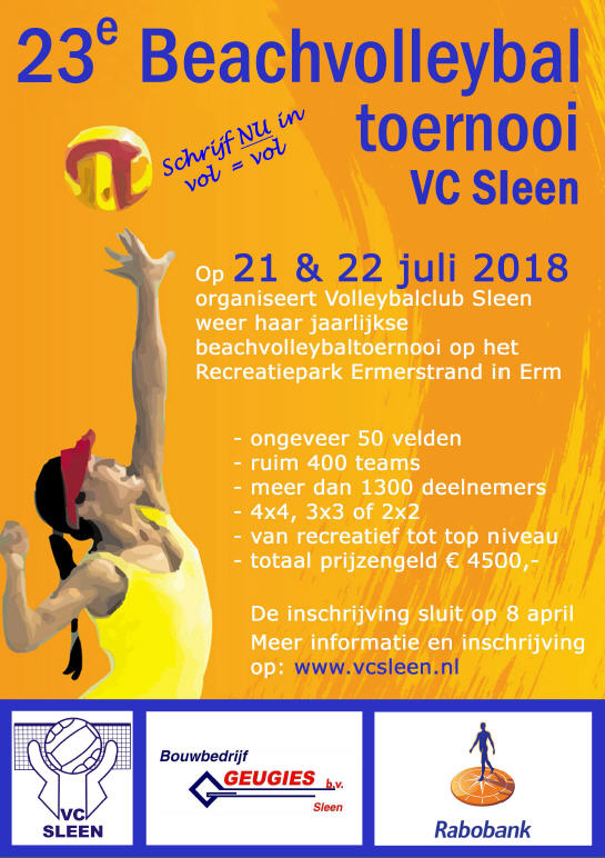 23e Beachvolleybaltoernooi VC Sleen